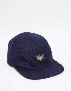 ASOS+5+Panel+Cap+In+Navy+Wool