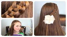 "4-Strand ""Slide-Up"" Braid   Cute Girls Hairstyles, via YouTube."