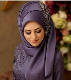 Fancy Hijab Accessories Fashion for Formal Function – Girls Hijab Style & Hija. Fancy Hijab Accessories Fashion for Formal Function – Girls Hijab Style & Hijab Fashion Ideas Hijab Bride, Girl Hijab, Square Hijab Tutorial, Hijab Style Tutorial, Wedding Hijab Styles, Hijab Wedding Dresses, Prom Dresses, Muslim Dress, Muslim Fashion
