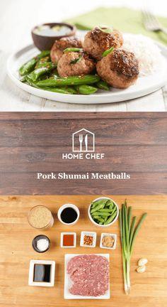 Asian pork meatballs/Home Chef recipe!