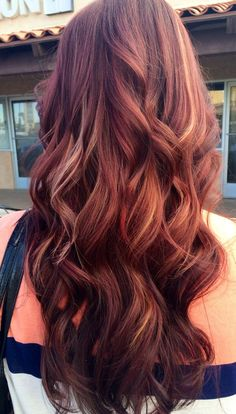 Mahogany hair color with caramel highlights 01