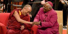 Desmond Tutu with the Honorable Dalai Lama