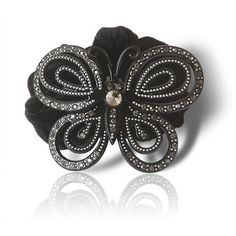 Women Black Bejeweled Butterfly Bridesmaid Evening Headpieces Hair Jewelry SKU-10806032