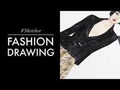 TWEED JACKET & LACE+SATIN+TULLE SKIRT | Fashion Drawing - YouTube