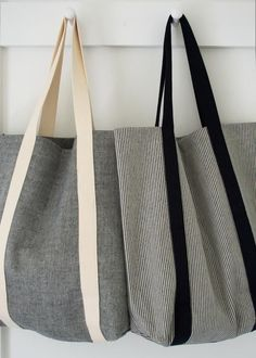 Molly's Sketchbook: Railroad Tote - The Purl Bee - Knitting Crochet Sewing Embro. - Molly's Sketchbook: Railroad Tote – The Purl Bee – Knitting Crochet Sewing Embroidery Crafts - Purl Bee, Sacs Tote Bags, Diy Tote Bag, Denim Tote Bags, Diy Purse, Diy Sac, Green Bag, Handmade Bags, Diy Clothes