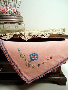 Vintage Linen Hanky