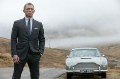 """Skyfall"" movie still, 2012.  Daniel Craig as James Bond.  The 1964 Aston-Martin DB5 was added as a nod to the franchise's 50th anniversary. Style James Bond, James Bond Cars, James Bond Movies, James Bond Skyfall, Pierce Brosnan, Sean Connery, Casino Royale, Star Trek 2009, Ben Whishaw"