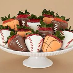 My boyfriend likes chocolate covered strawberries...so he is definitely going to LOVE basketball decorated chocolate covered strawberries for Valentine's day :)