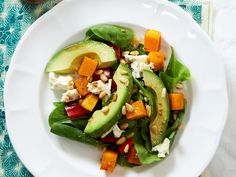 The combination of hearty roasted pumpkin, salty feta cheese, creamy avocado and toasted pine nuts is absolutely unbeatable in salad form.