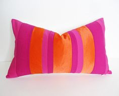 orange & pink cushion ideas