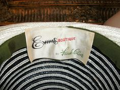 Vintage 1960's Emme Boutique by Frank Clive Black by thebazarhome, $35.00