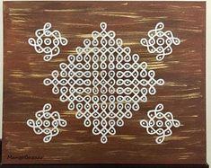 Rangoli Borders, Rangoli Border Designs, Rangoli Patterns, Rangoli Designs With Dots, Rangoli Designs Images, Kolam Rangoli, Rangoli With Dots, Small Rangoli, Padi Kolam