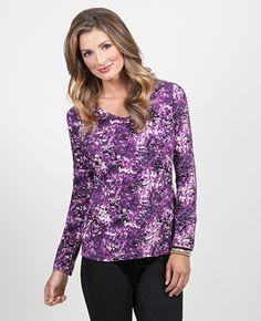 Purple Amethyst, Tunic Tops, Purple, Blouse, Women, Fashion, Moda, Fashion Styles, Amethysts