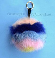 19 Best Fur Pom Pom Keychains images  c601fffb3df5