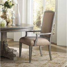 Hooker Furniture True Vintage Upholstered Dining Chair (Set of 2 Solid Wood Dining Chairs, Dining Arm Chair, Furniture For Small Spaces, Living Room Furniture, Furniture Chairs, Dining Rooms, Stanley Furniture, Parsons Chairs, Hooker Furniture
