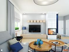 COCO romans z błękitami - zdjęcie od COCO Pracownia projektowania wnętrz - Salon - Styl Klasyczny - COCO Pracownia projektowania wnętrz