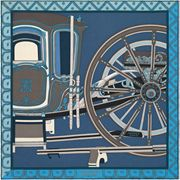 76e150b1e0e9 La Maison des Carrés Hermès   Gavroche 45 x 45 cm Balade en Berline bleu  Carré