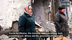 Emotional women from war torn Donbass who've had enough talk about child murderer Poroshenko, traitor Yanukovich, warmonger Obama, and the useless OSCE. Engl...