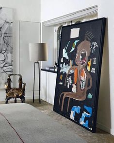 f440e72f45ce Basquiat bedroom goals with the creative director and founder of   zadigetvoltaire Cecilia Bonstrom and Thierry