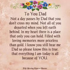 Dad I Miss My Dad, I Miss U, Mom And Dad, Sorrow Quotes, Dad Poems, Rip Dad, Missing Loved Ones, My Guardian Angel, When You Leave