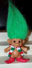 Vintage Russ Christmas Troll Doll Early 1980s  Santa's Elf Troll Doll Rare?