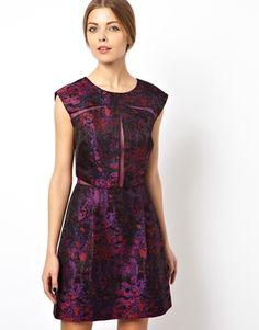 ASOS BLACK Organza Jacquard Mix Prom Dress