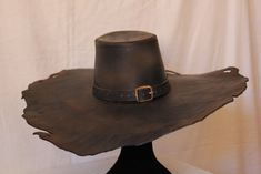 Leather work 152 by ~HamraBDG on deviantART mxs cool organic shaped hat
