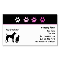 Pet Care Business Cards. I love this design! It is available for customization or ready to buy as is. All you need is to add your business info to this template then place the order. It will ship within 24 hours. Just click the image to make your own!