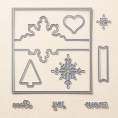"""Snowflake Card Thinlits Dies 135855 Make pop-up cards the easy way with the Snowflake Card Thinlits Dies: just cut and fold. Use with Big Shot and Standard Cutting Pads. Folded card size: 4-1/4"""" x 5-1/2""""."""