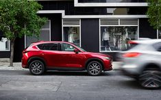 Download wallpapers Mazda CX-5, 2017, side view, red crossover, new cars, red CX-5, Mazda CX