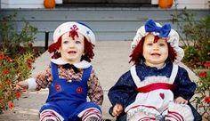 Muñecos, encuentra más divertidas opciones en disfraces para este Halloween aquí http://www.1001consejos.com/disfraces-para-gemelos/