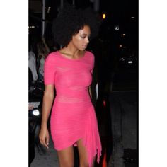 love this dress and color! Solange Knowles
