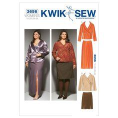 Mccall Pattern K3656 1X - 2X - -Kwik Sew Pattern
