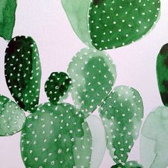 Wonderful watercolor painting of cactus. Art And Illustration, Pattern Illustration, Illustrations Posters, Cactus Illustration, Textures Patterns, Print Patterns, Cactus Planta, Pattern Art, Art Inspo
