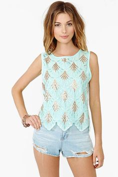 Sequin Shell Tank