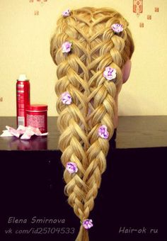 Here, we love hair! If you are a beauty artist send us a message for a free feature! Romantic Hairstyles, 2015 Hairstyles, Fancy Hairstyles, Curled Hairstyles, Love Hair, Gorgeous Hair, Hair Maintenance Tips, Coffee Hair Dye, Viking Hair