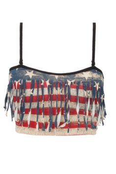Blackheart Americana Bandeau Top from Hot Topic. Saved to Epic Wishlist. Shop more products from Hot Topic on Wanelo. Bandeau Shirt, Crop Shirt, Bandeau Bikini, Bandeau Tops, Hot Topic Shirts, Fringe Shirt, Thing 1, Kinds Of Clothes, Shirts