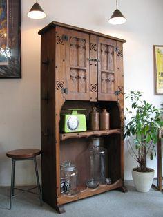 【アンティーク 古道具 JIKOH】【中古】【RCP】レトロ ヴィンテージ スペイン家具 キャビネット シェルフ 食器棚本棚として【楽天市場】