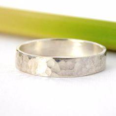 Hammered Band Ring - Sterling Silver - Rito Originals - 1