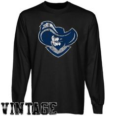 NCAA Xavier Musketeers Black Distressed Logo Vintage Long Sleeve T-shirt - http://www.cincyshop.net/cincinnati-sports/xavier-university/ncaa-xavier-musketeers-black-distressed-logo-vintage-long-sleeve-t-shirt/