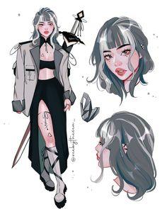Pretty Art, Cute Art, Arte Monster High, Art Sketches, Art Drawings, Arte Sketchbook, Anime Oc, Digital Art Girl, Cartoon Art Styles