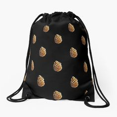 Pine Cones, Woven Fabric, Chiffon Tops, Drawstring Backpack, Objects, Polka Dots, Printed, Awesome