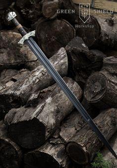 Viking hybrid sword  Hand crafted in HQ by GreenShieldWorkshop