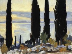 John Singer Sargent  Paintings  : Cypress Trees at San Vigilio  39