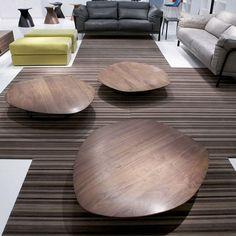 Table basse / contemporaine / en bois - PEBBLE by Nathan Yong - CINNA