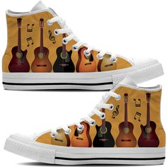 Do you play guitar? These are the PERFECT shoes for anyone that loves to play acoustic, electric or bass guitar! Check out all our Guitar Products now!