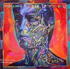 Rolling Stones Tattoo You album cover painting