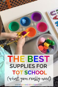 Our Favorite Tot School Supplies - Sarah Ever After