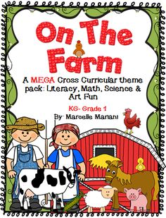 On The Farm- Farm Animals- center games, math games, printables, art activities, science and technology lessons- this is THE WORKS of FARM related learning for Kindergarten-Grade 1 students- ALMOST 400 pages of resources http://www.teacherspayteachers.com/Product/Farm-Animals-On-The-Farm-LiteracyMathScience-and-Art-FUN-MEGA-THEME-PACK-1227347