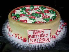 Hansen's Cakes. Deep Dish Pizza Cake!